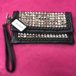 Black Studded Wristlet/Wallet, NWT